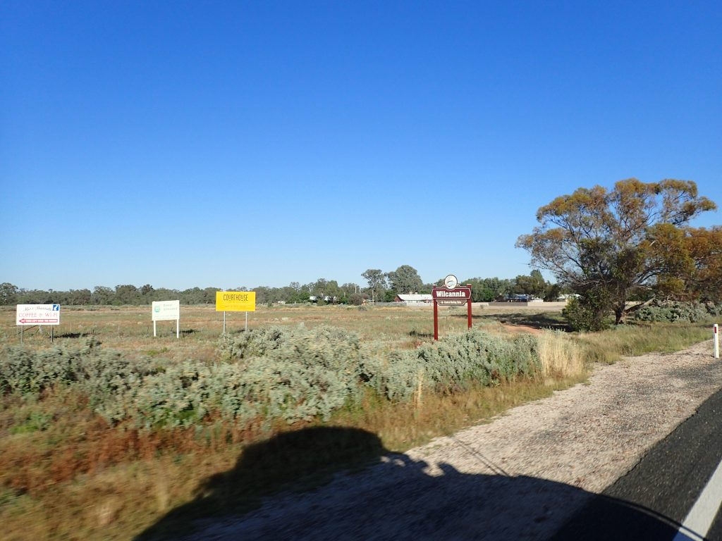 Entering Willcannia