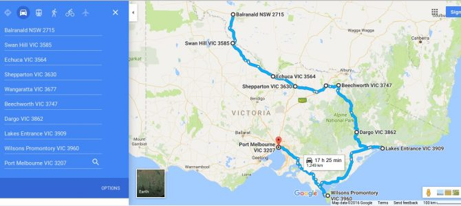Planning our VIC part of the trip