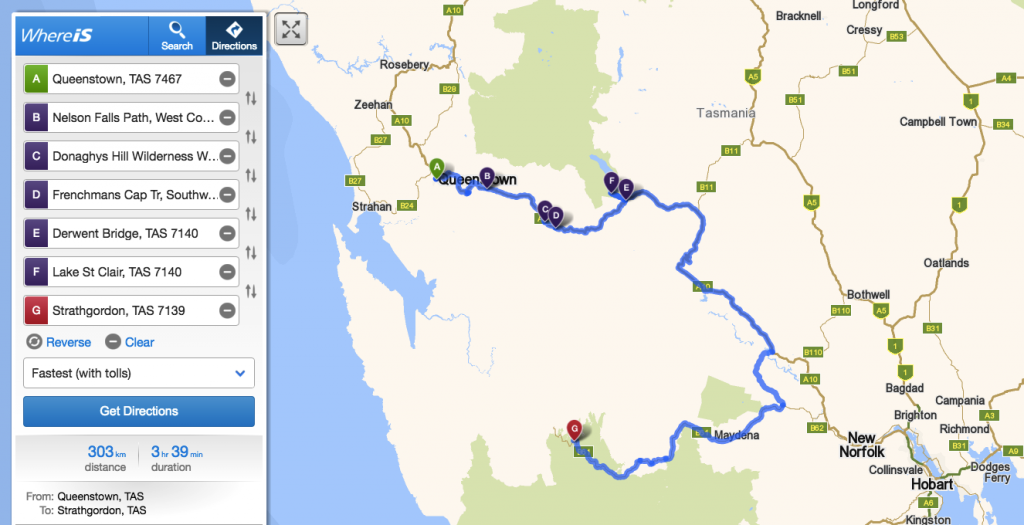 From Queenstown to Strathgordon via Lake St Clair in Cradle Mountains!!