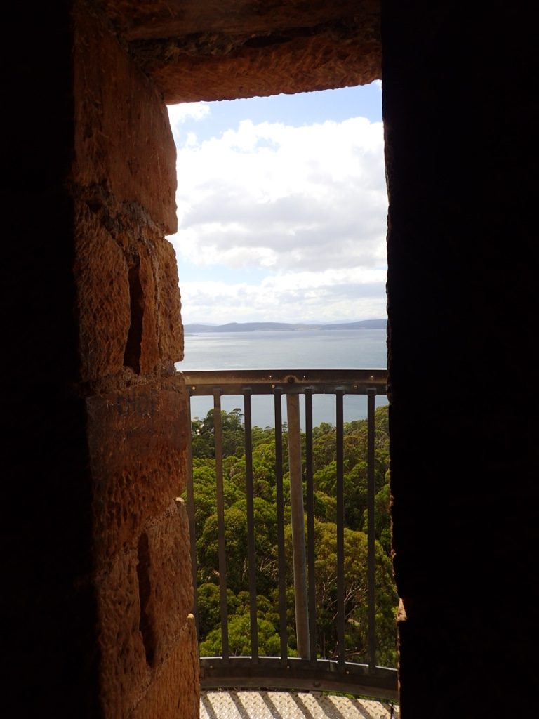 Shot Tower, Taroona view from the top.