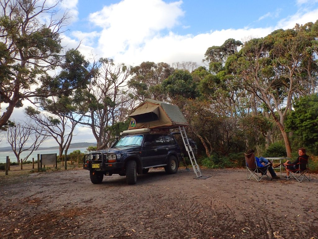 Cloudy Corner campground, Bruny Island TAS