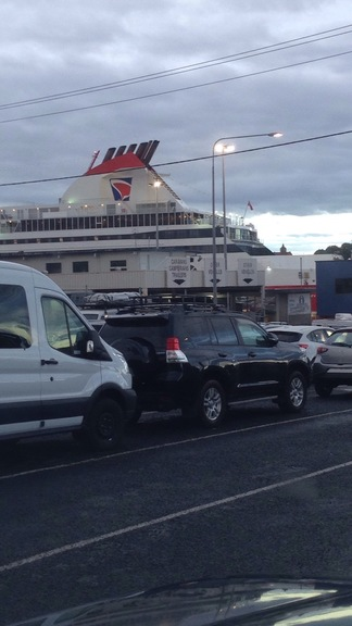 Waiting to board the Ferry back to Melbourne